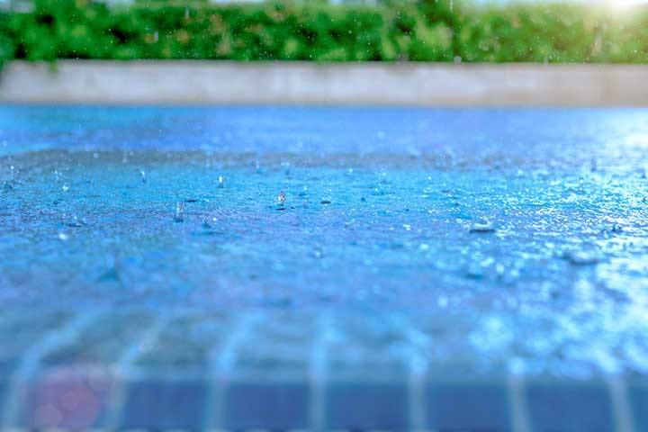Pool Cloudy After Rain